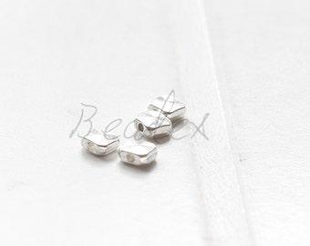 60pcs / Square Spacer / Oxidized Silver Tone / Base Metal (Y16665//E193)