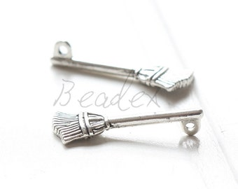 10 Pieces / Harry Potter Broomstick / Pendant / Oxidized Silver / Charms / 28x10mm (Y35529//C701)