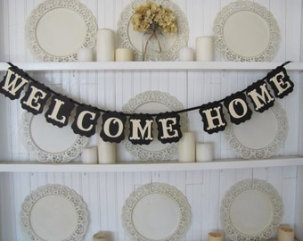 Welcome Home Banner, Welcome Home Sign, Homecoming Banner, Housewarming Sign, Home Sweet Home, LDS Missionary, Military Welcome, Travel Sign