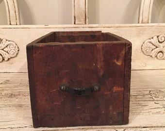 Vintage rustic wood drawer