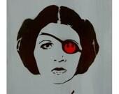 Princess Leia Star Wars Art 11x14 LA TERRORISTA Princess Leia Star Wars Princess Original Painting Pop Art and Graffiti Inspired on Canvas