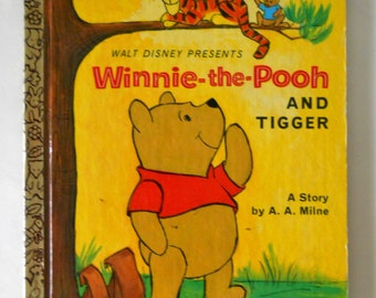 Winnie the Pooh and Tigger - Vintage Little Golden Book - Disney Storybook - 1968 - A.A. Milne