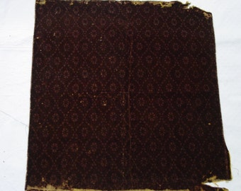 "Antique Mohair Upholstery Fabric Piece, 24 x 25"" Crafts, Bears, Etc. c.1880's"