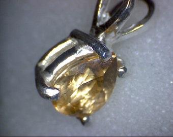 Stunning Imperial Topaz Pear Pendant