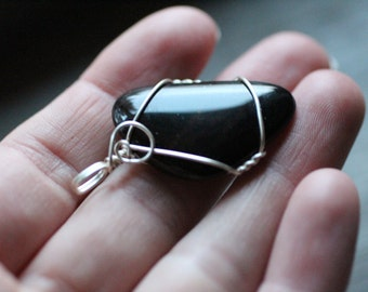 Mahogany Obsidian Wire Wrapped Pendant #7207