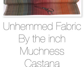 Unhemmed Fabric by the inch.  Please read description.
