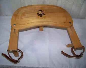 Vintage Portable High Chair Folds Flat for Easy Transport