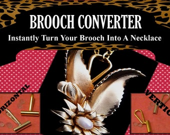 BROOCH CONVERTER Convert Your Brooch Into A Pendant Simple, Non Permanent