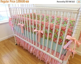 SPRING CLEANING SALE--- Made To Order-- Shabby Chic Baby Girl Crib Bedding