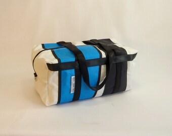 SMALL Duffle Bag, Travel Duffle, Sailcloth Duffle, Ultralight Luggage, Weekend Bag, Overnight Bag, Sail Bag, White Bag, Blue, Black DS1