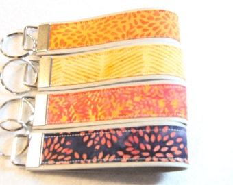 Key fob, Key chain, Wristlet - Batik Water Color - Select One