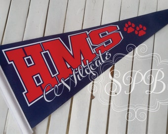 Personalized Custom Felt Pennants for school or speical events sports