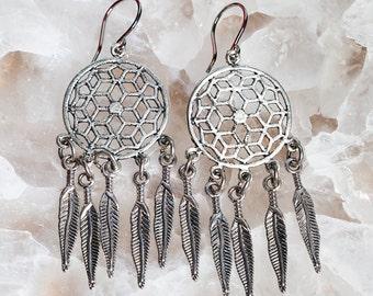 MANDALA DREAM CATCHER Earrings Festival Jewelry