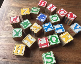 Lot of Letter Blocks