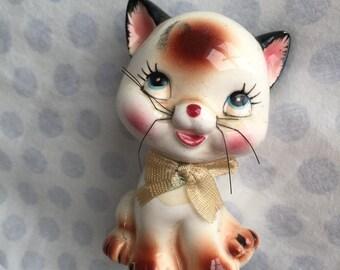 Make me an Offer! Porcelain Kitty Salt Pepper Figurine