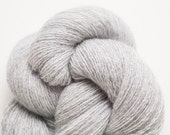 Silver Shadow Light Gray Lace Weight Recycled Cashmere Yarn