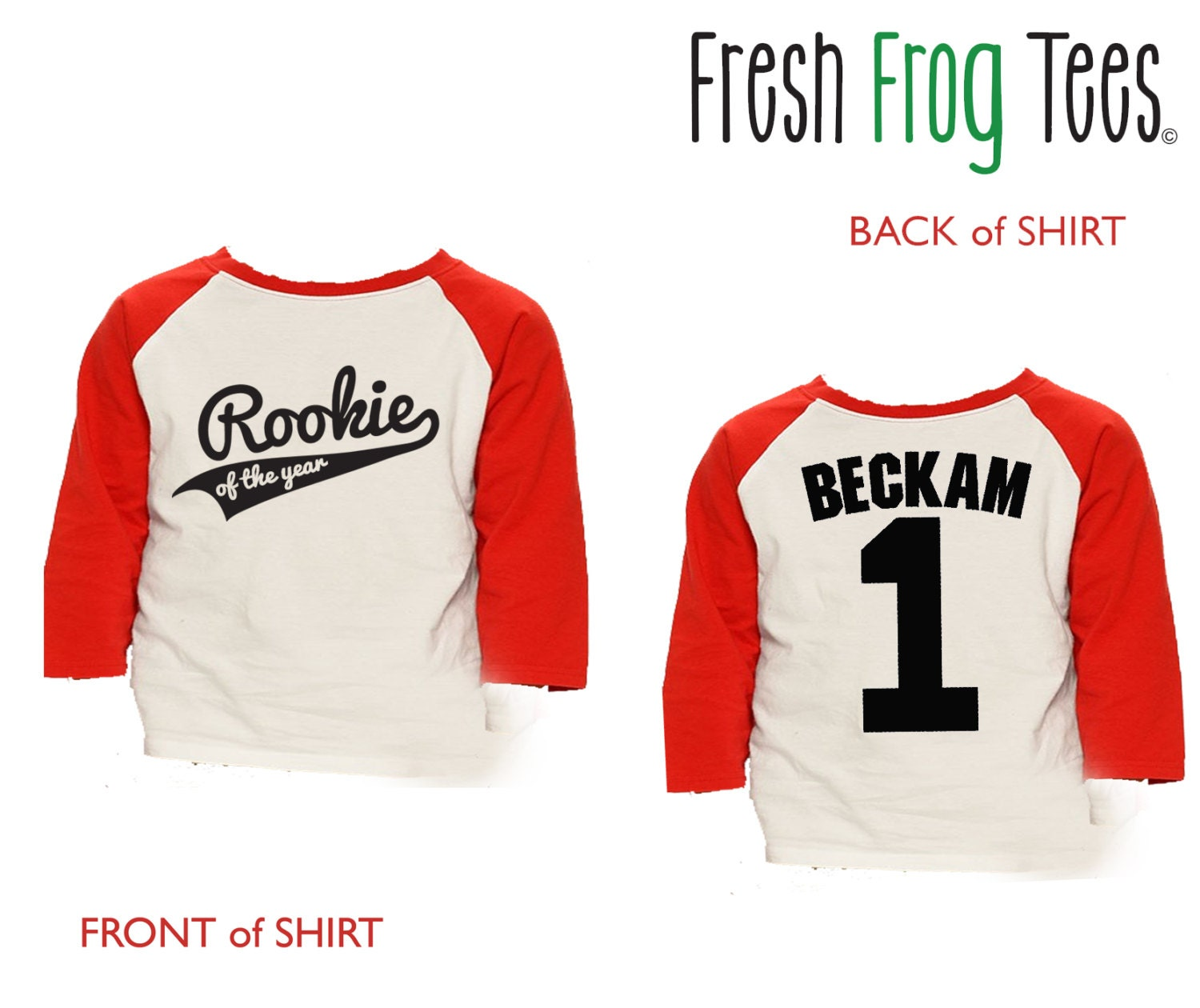 First Birthday Rookie Of The Year Shirt 3/4 Or Long Sleeve