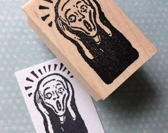 The Scream Rubber Stamp