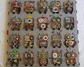 Recycled Art - R.O.W.B.O.T.S. - Upcycled Art - Recycled Assemblage - Fun Wall Art by Jen Hardwick