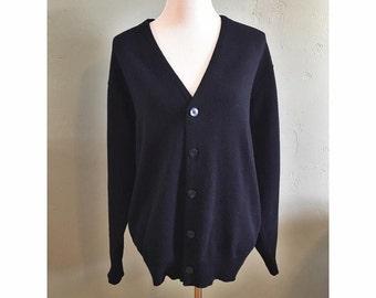 Vintage Navy Sweater Cardigan