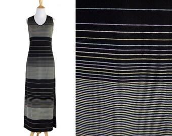 90s Minimal Black BodyCon Dress