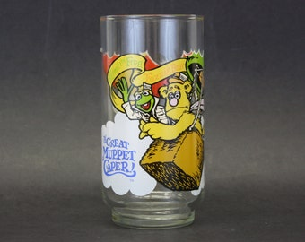Vintage 1981 'The Great Muppet Caper' McDonald's Novelty Glass (E7881)