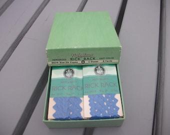 NUFASHOND Vintage Rick Rack Copen Blue 12 packages in original box