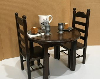 American Girl Doll: Espresso Furniture, Table, two chair set