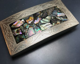 Vintage Mexican Abalone Belt Buckle. Western Buckle. Cowboy Buckle . Mexico No.003025 hs