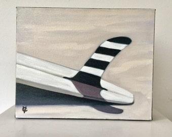 Original oil striped fin by Carin Vaughn
