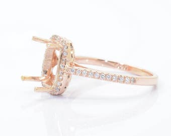 A diamond gold setting engagement ring for her, setting only  SKU- JOAN-Si-Chate