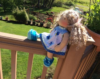 "Dory, 14-16"" Waldorf doll clothes"
