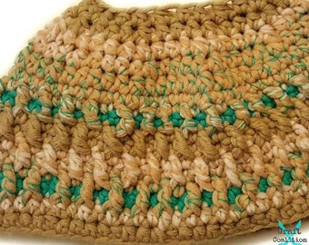 Granite Messy Bun Hat Crochet Pattern