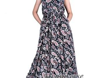 Plus Size Maxi Dress Sundress Women Plus Size Dress Clothing With Pockets Dress Hanky Dress Long Hawaiian Dress Summer African Floral Dress