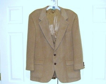 Vintage Camel Hair Men's Jacket, Blazer / PBM Dillard's Sport Coat, Sz. 44 / Cleaned / Excellent Condition