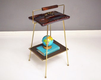 Vintage Brass Ashtray Stand
