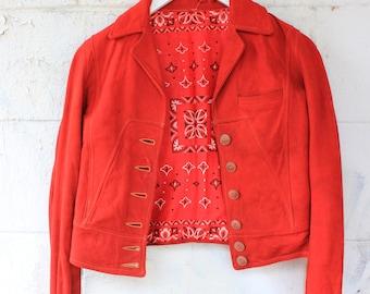 1930s Bandana Lined Buckskin Jacket *DELICATE*