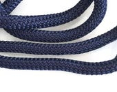9-10mm Nautical Blue Braided Nautical Paracord, Blue Braided Rope Cord, Thick Necklace Rope, Semisoft Climbing Cord, S 40 203