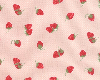Hello Darling pink strawberries 55114-17 by Bonnie and Camille for moda fabrics