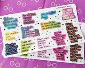 Harry Potter Inspired Quotes ~Motivational + Inspiring Quote Stickers for Planners