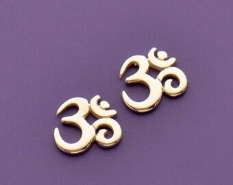 Ohm -  Sterling Silver Ohm Charm Embellishment - cj1325x,  Om, Buddhism, Zen, Yoga, Chakra, Symbolic, Yoga Spirit, Faith, Locket Charm