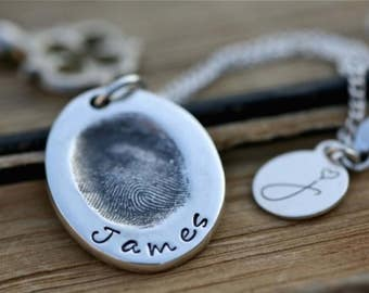 Fingerprint oval Necklace
