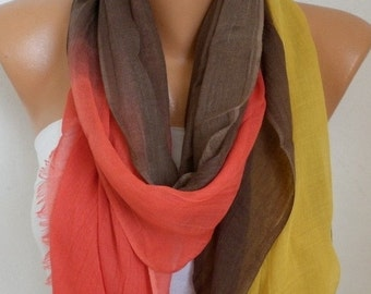 ON SALE --- Fall Ombre Cotton Soft Scarf,Graduation Gift,wedding, Pareo,Shawl,Oversize Scarf, Cowl Scarf Gift Ideas for Her Women Fashion Ac