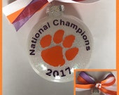 Clemson Tigers ALL IN Championship Ornament