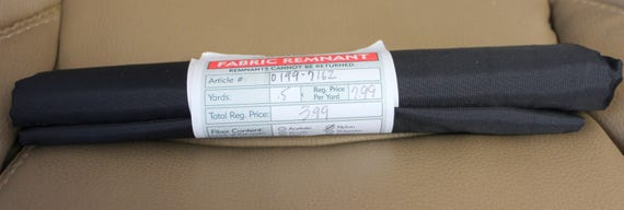 "Black Nylon Fabric,Fabric Remnant,END OF BOLT Fabric 1/2 Yard x 44"" W"