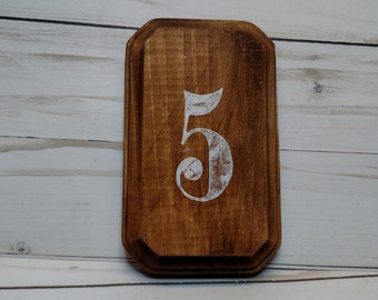 Rustic Wedding Oval Clipped Corner Table Number