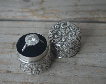 Antique Sterling Ring Box