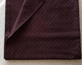 Swaddle/Receiving Blanket--Lightweight Swiss Dot, Brown