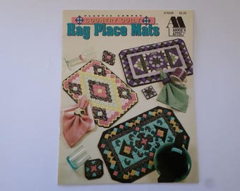 plastic canvas place mat instruction leaflet country quilt rag placemats