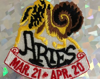 Vintage ARIES Zodiac Iron on Sew On Patch Patches